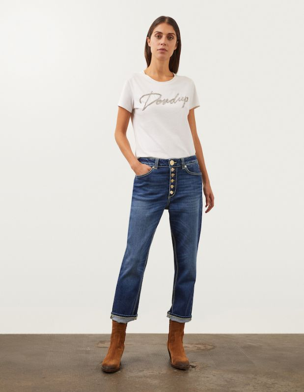 Dondup jeans made with Coreva Denim by Candiani