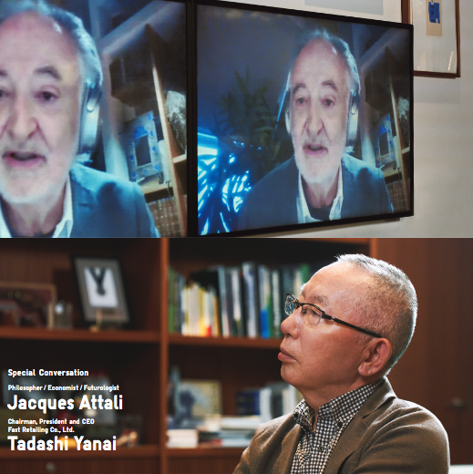 This year's report featured a discussion between Tadashi Yanai, chairman, president and CEO, Fast Retailing Group, and French philosopher Jacques Attali.