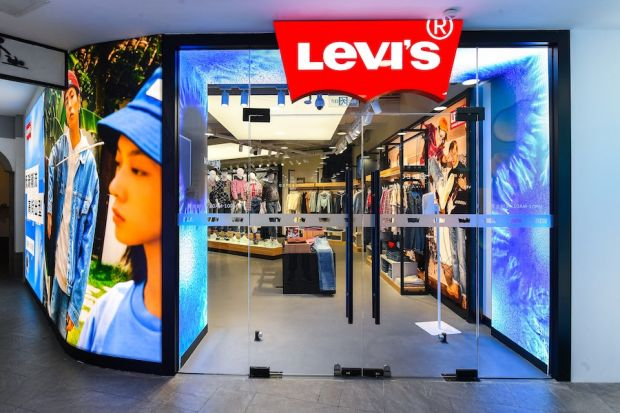 Inside entrance of Levi's NextGen store