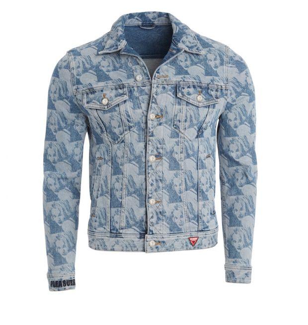 Guess Originals x Pleasures Drew Barrymore men's denim jacket