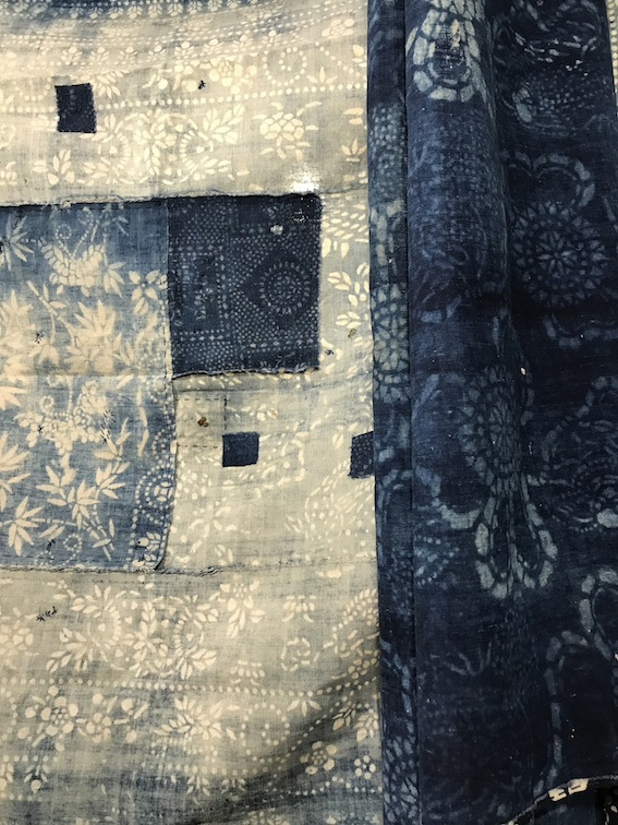 Indigo-dyed textile by Blue Handed & Jugu