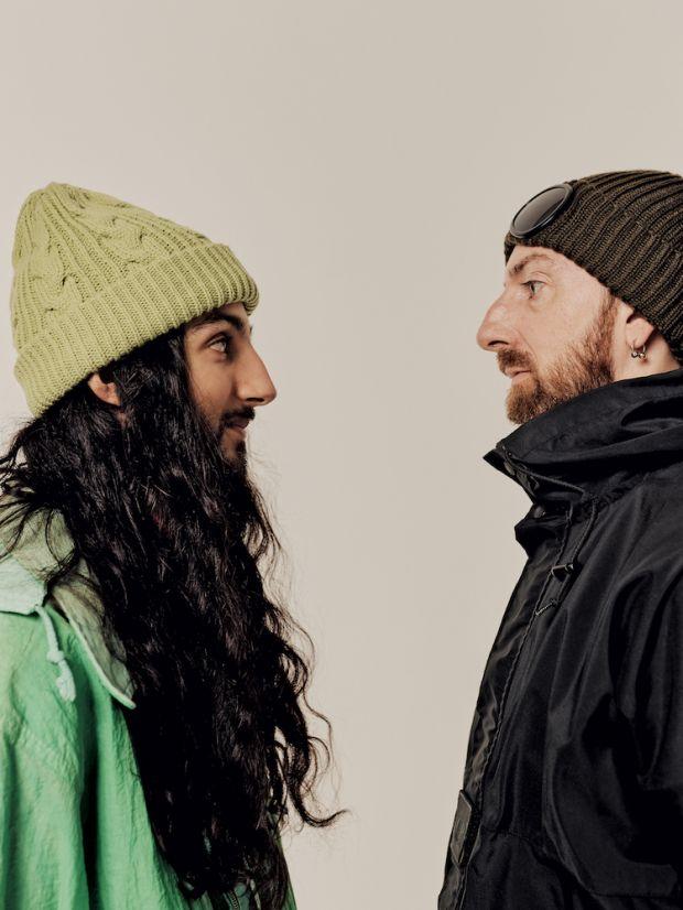 Stylist & photographer Daniel Pacitti (left) with his cousin