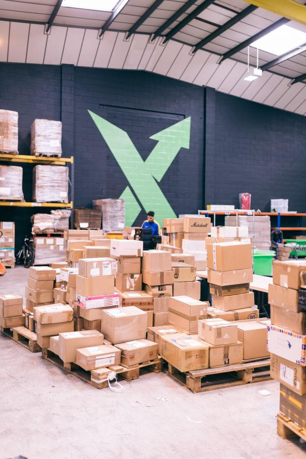 Thousand of boxes arrive every day at the authentication center
