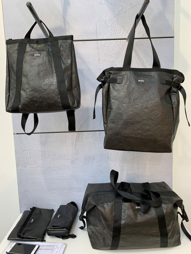 These bags from Bree are made from partially recycled material.