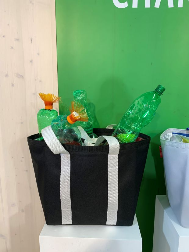 The Reisenthel Re-Shopper is made from recycled PET bottles.