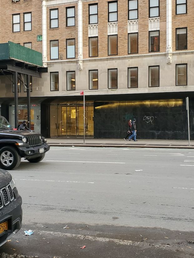 An empty Barneys store in Chelsea