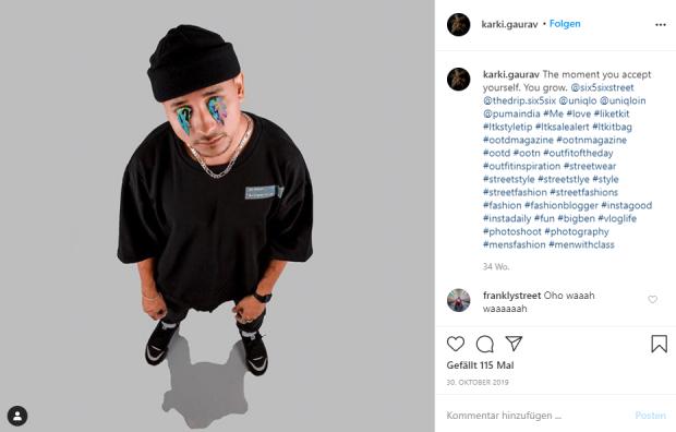 Instagram profile of Gaurav Karki