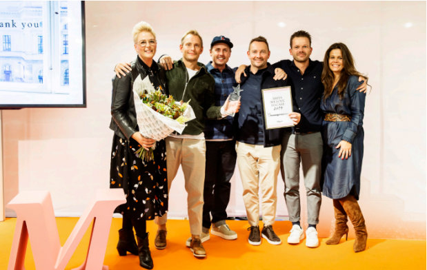 """We Love to Care"" award from Danish department store Magasin du Nord"