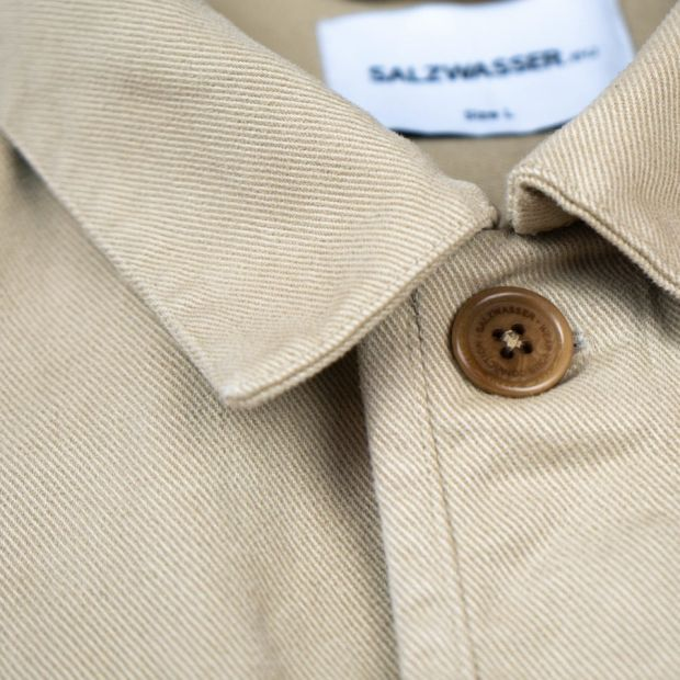 Men's overshirt with corozo button by Salzwasser