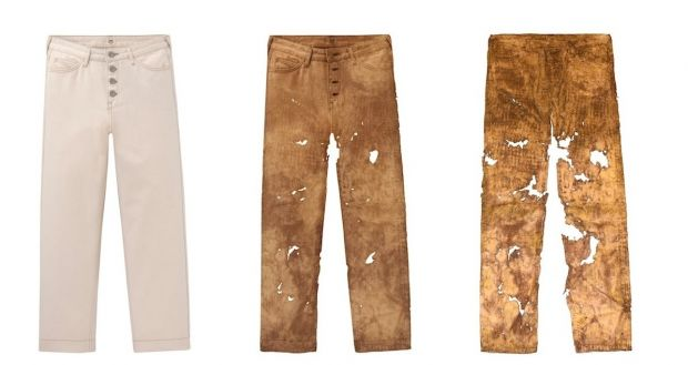 Lee's 'Back to Nature' capsule: showing the decomposition process of denim