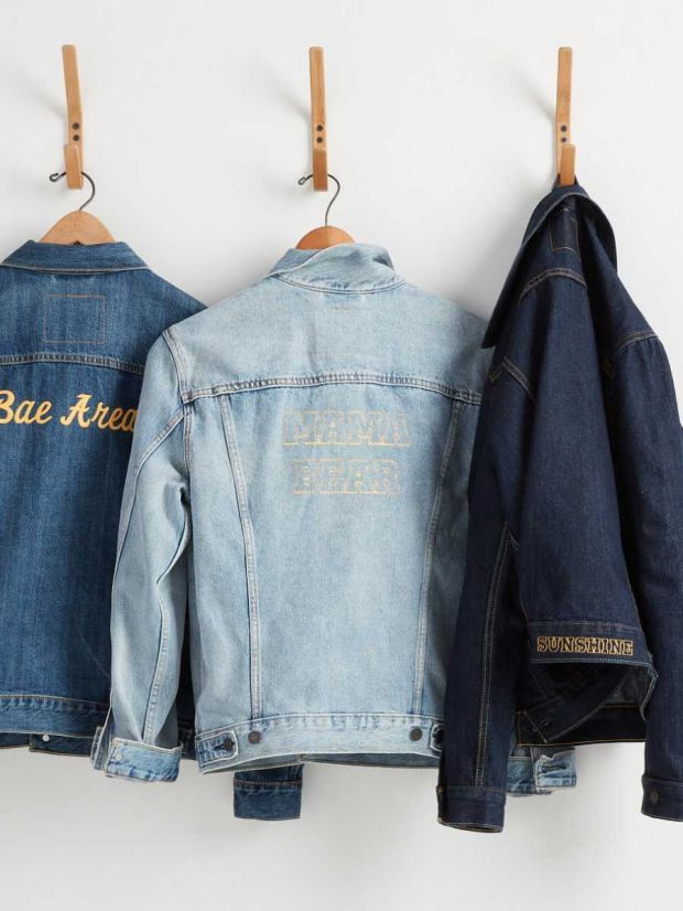 Online customization service for Levi's trucker jackets