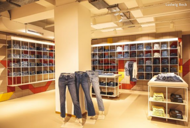 The newly created jeans department