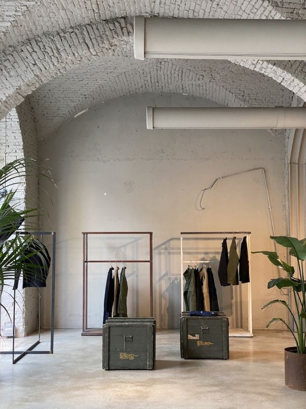 The new store: Clan Upstairs Base on Via Pontaccio 19 in Milan