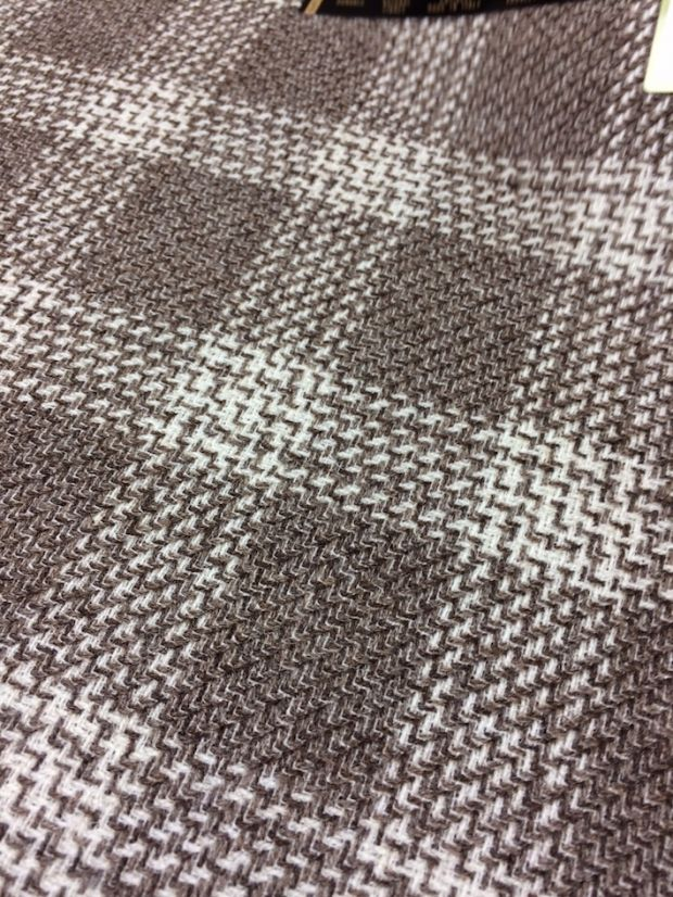Checked fabric made of undyed wool by Vitale Barberis Canonico