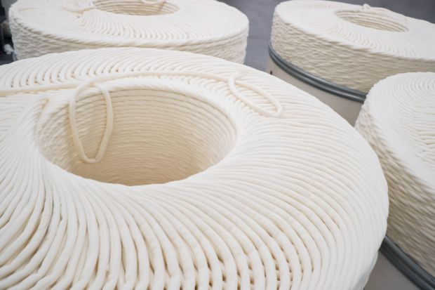 Organic cotton is added to the newly created fibers