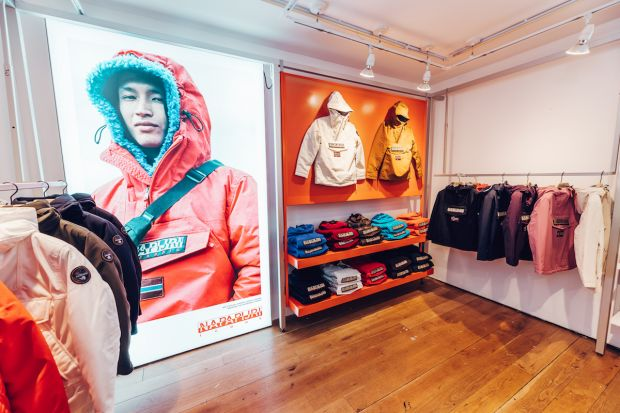 Napapijri pop-up stores in London