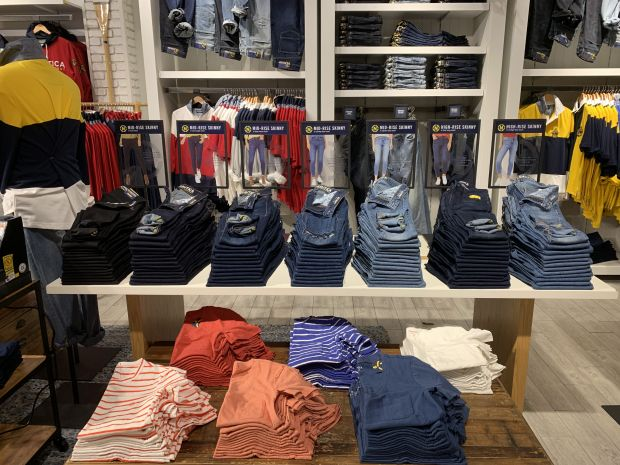 Nautica's new shop-in-shop inside New York's Manhattan Mall
