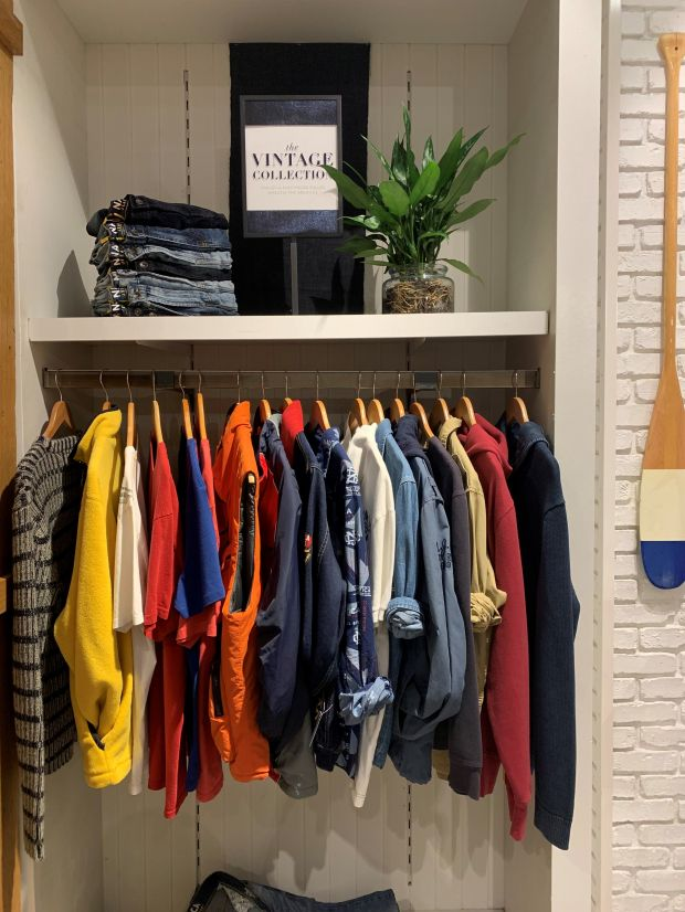 The pop-up offers Nautica Jean Co. denim, branded polos and tees