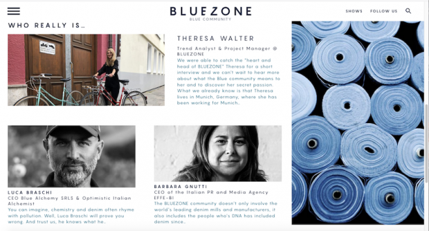 'Who Really is' section on bluezone.show