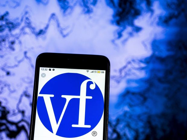 VF Corporation logo seen displayed on a smart phone.