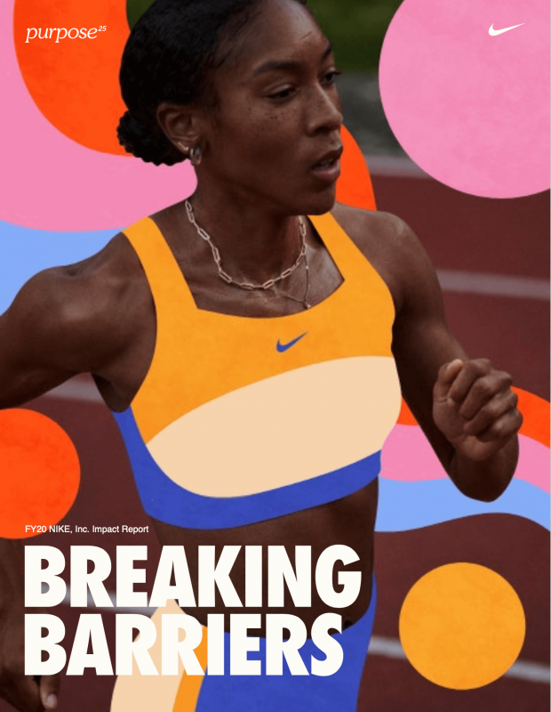 Cover of Nike's Impact Report 2020
