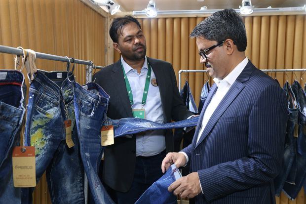 Left: Mostafiz Uddin, founder and CEO of the Bangladesh Denim Expo