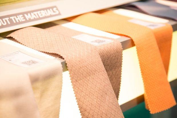 Fabrics on display at Performance Days