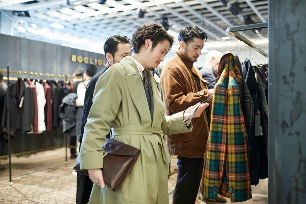 Buyers during Pitti Uomo's January 2020 edition