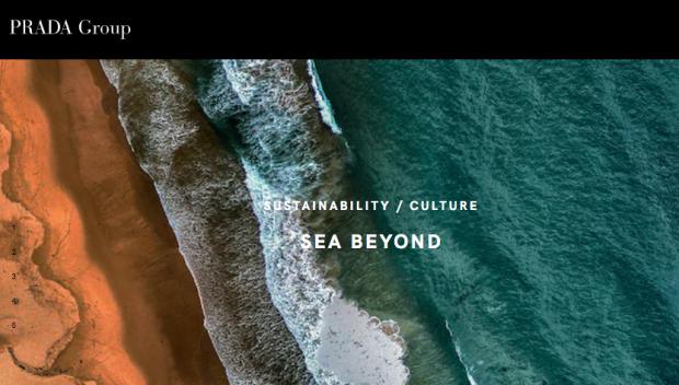 Prada 'Sea Beyond' corporate image