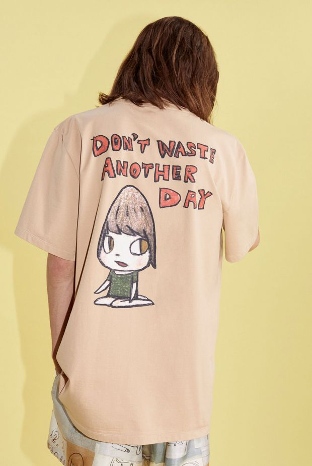 Designer Stella McCartney is considered a pioneer in the field of sustainability (photo: Stella McCartney s/s '21 collab with artist Yoshitomo Nara)