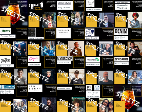 'Spritz' online meetings series organized by The Denim Window during lockdowns