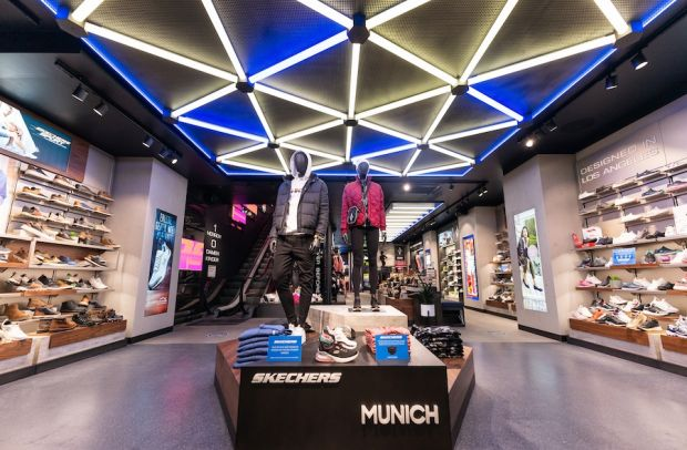 Inside Skechers in Munich