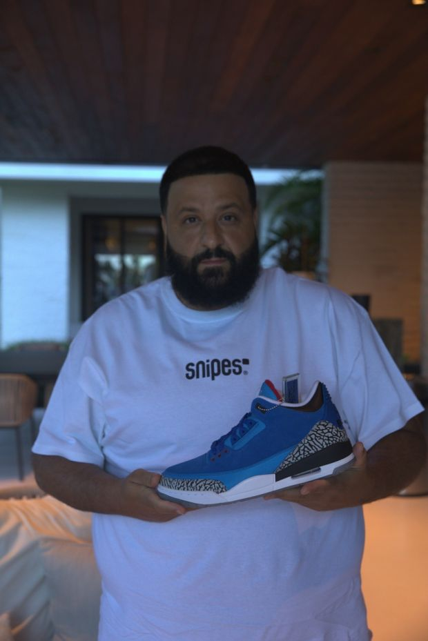 """Snipes' Chief Creative Officer, DJ Khaled, made a virtual appearance on the opening day and announced the giveaway of his """"Father of Asahd"""" Air Jordan 3 sneakers."""