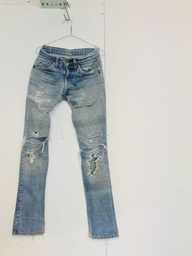 Malin Ekengren's patched-up jeans