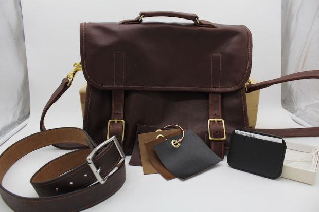 Bag and accessories made with Enspire Leather