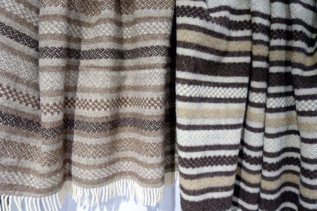 Covers by Tricolor made of undyed wool