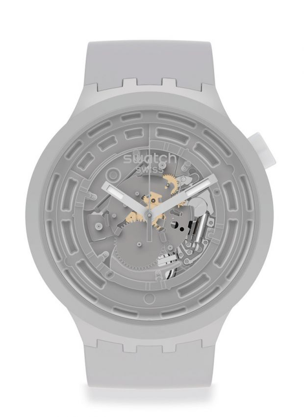 The case of Swatch's Big Bold watch is made of Bioceramic.