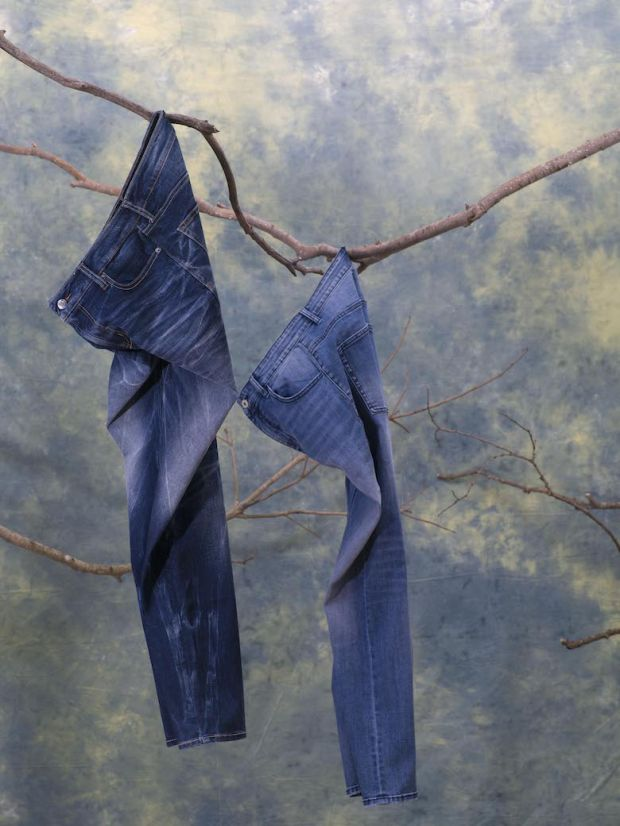Jeans with The Lycra Company's Coolmax EcoMade fiber made from 100% textile waste