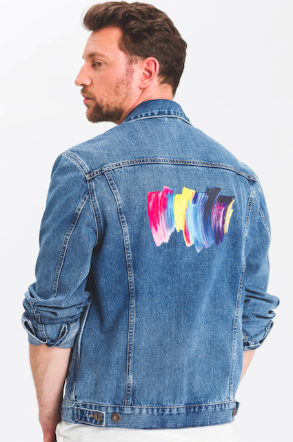 Cross Jeans jacket created by artist Paul Schrader