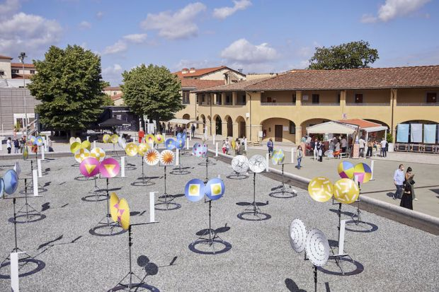 Pitti Uomo, central courtyard