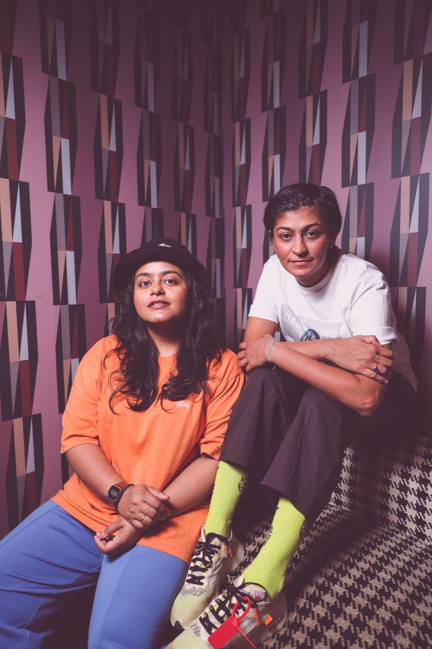 From left: Meenakshi Singh and Bhavisha Dave