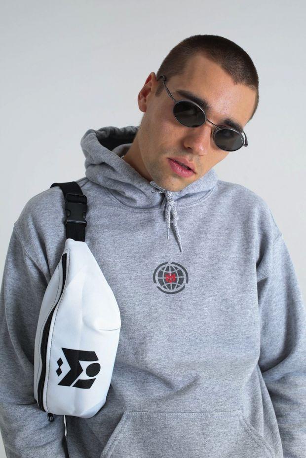 Waist bag and hoodie by M10 Streetwear