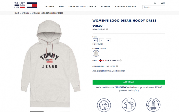 Tommy For Life web page