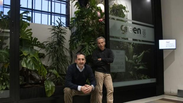 From left: Daniele Denegri, founder/CEO, and Giovanni Storti, actor and shareholder, Green Media Lab