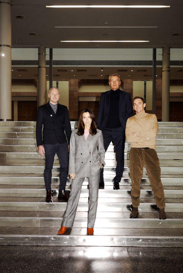 Premium Exhibition's Anita Tillmann and Jörg Arntz (r.) with Messe Frankfurt's Olaf Schmidt (l.) and Detlef Braun