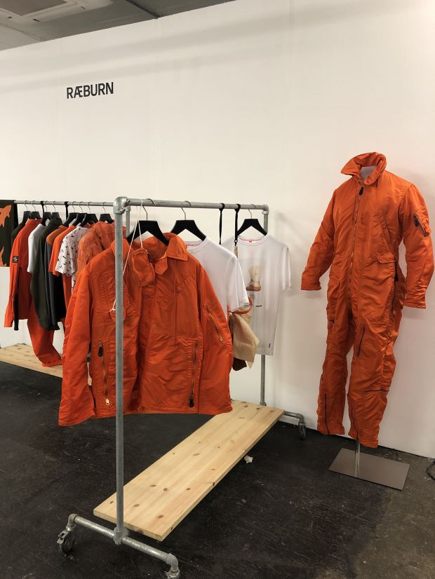 Raeburn's booth in Jacket Required's sustainable brand showcase