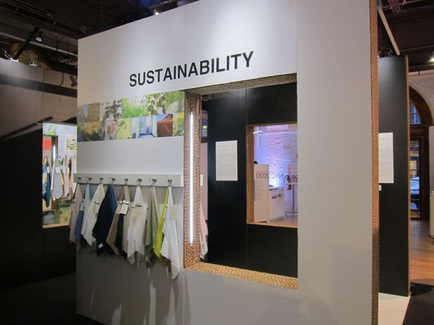 Japan Textile Salon trend area sustainability wall