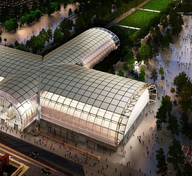 The Grand Palais Ephémère (rendering) will be the location for the new event DR:OP:01.