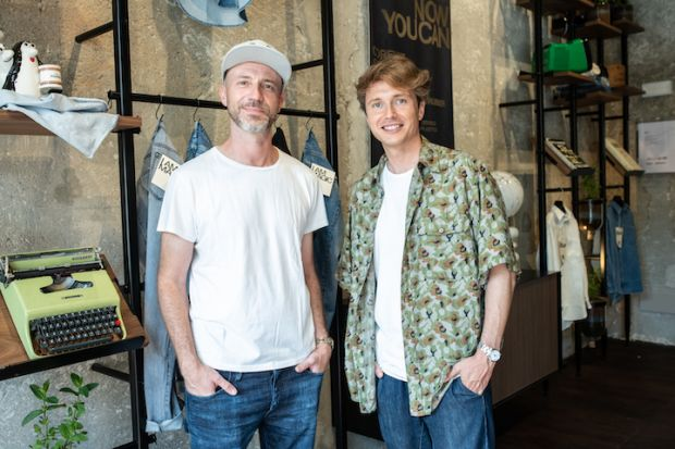 From left: Alberto Candiani, president, Candiani Denim and Matteo Ward, co-founder, Wråd