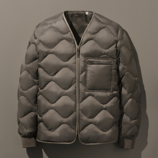 Recycled down jacket from the Re.Uniqlo recycling project